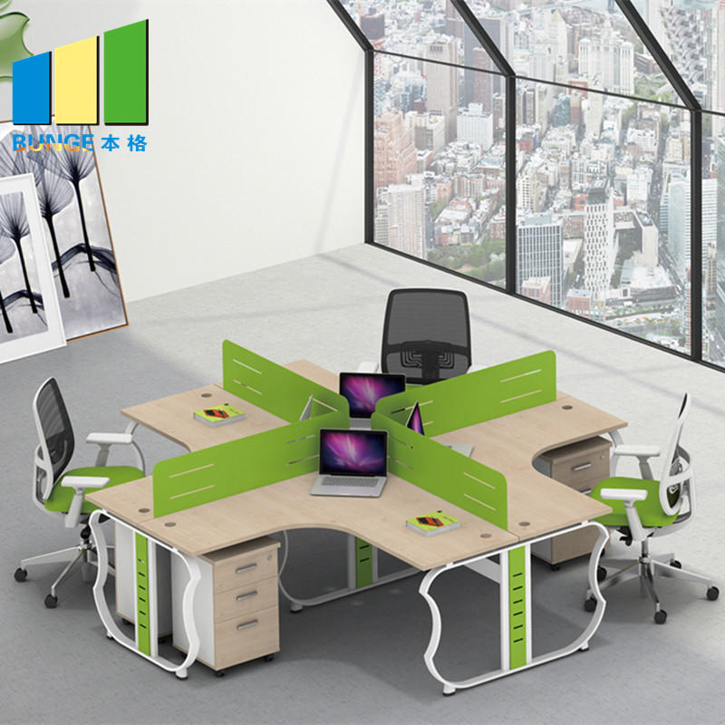 Modern Type Furniture 4 Seat Office Partition Cubicle Workstation-movable wall, folding partition,operalbe wall-EBUNGE