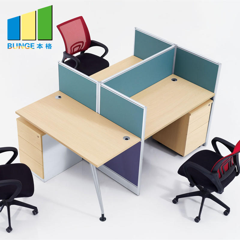 New Style Modular Partition 120 Degree Office Workstation for 3 seater-office workstaion-EBUNGE