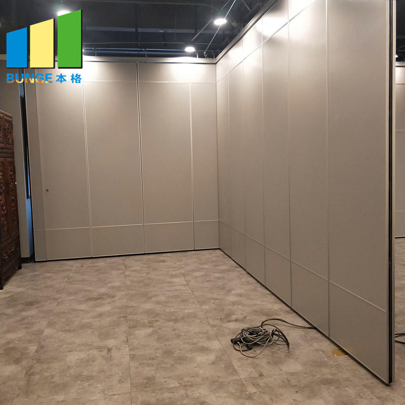 Soundproof Material Sliding Aluminium Track Operable Wall Partition for Restaurant-EBUNGE