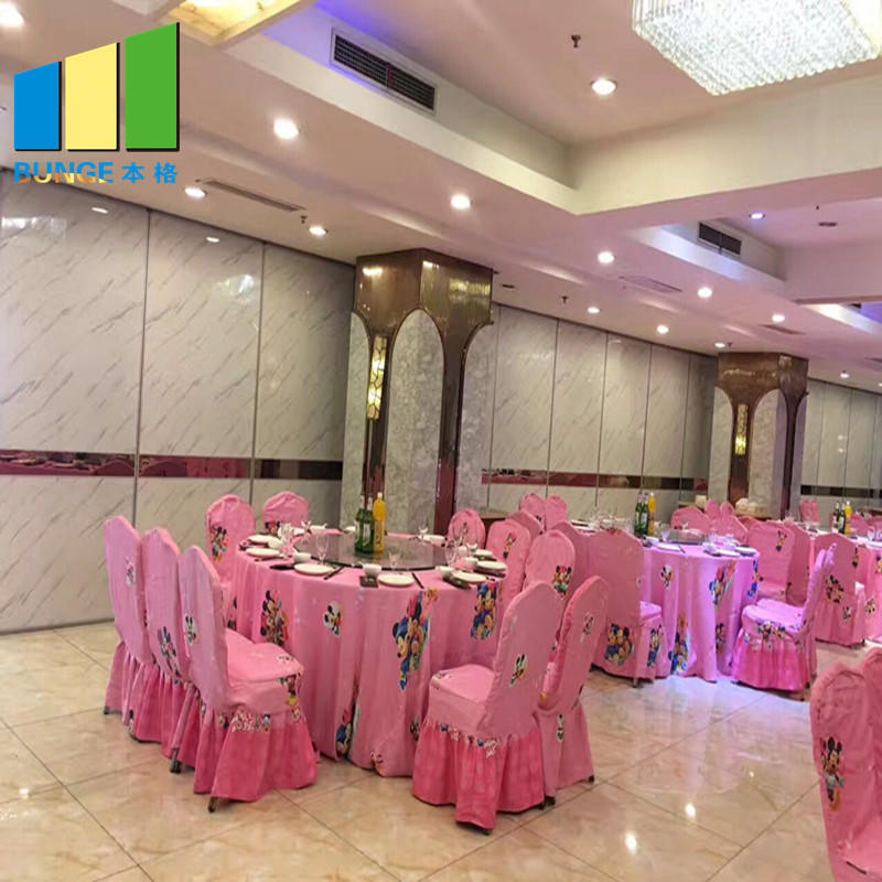 Banquet Hall Foldable Room Partition Panels Acoustic Sliding Partition Walls-EBUNGE