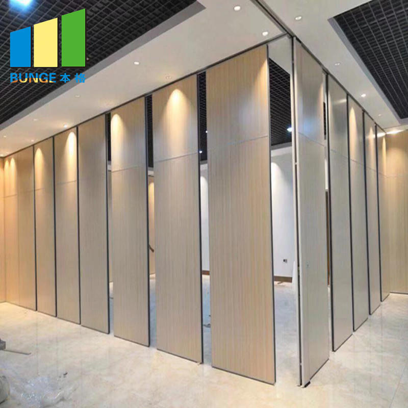 Meeting Room Fire Resistant Movable Acoustic Sliding Partition Walls-EBUNGE