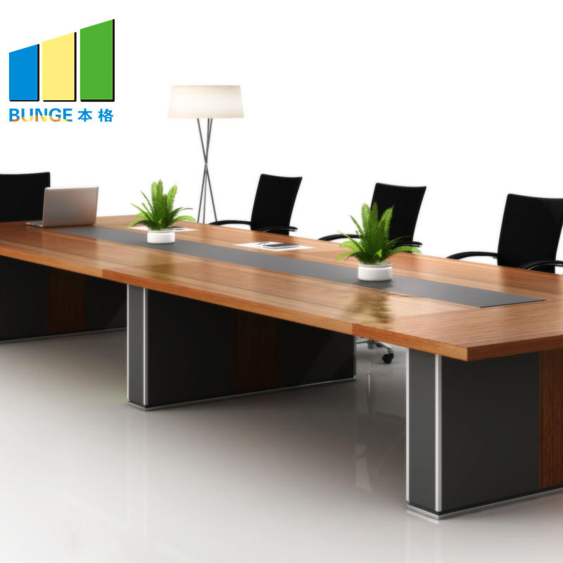 Modern Commercial Furniture MFC Melamine Wooden Office Conference Table for Boardroom