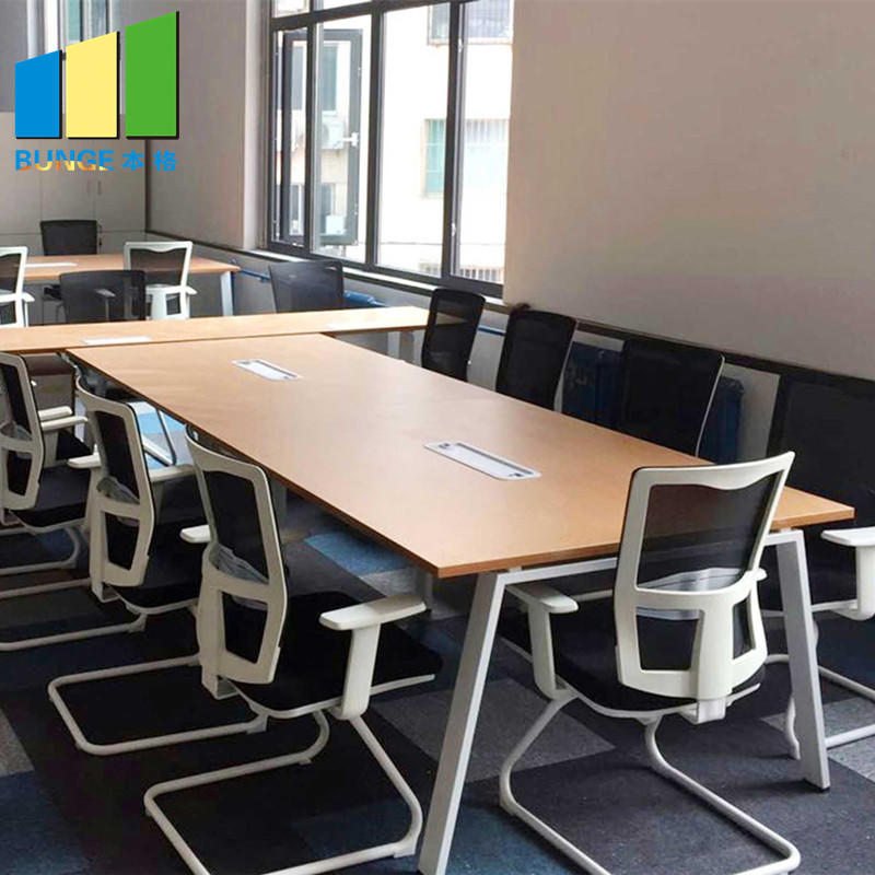 product-EBUNGE-Modern Commercial Furniture MFC Melamine Wooden Office Conference Table for Boardroom