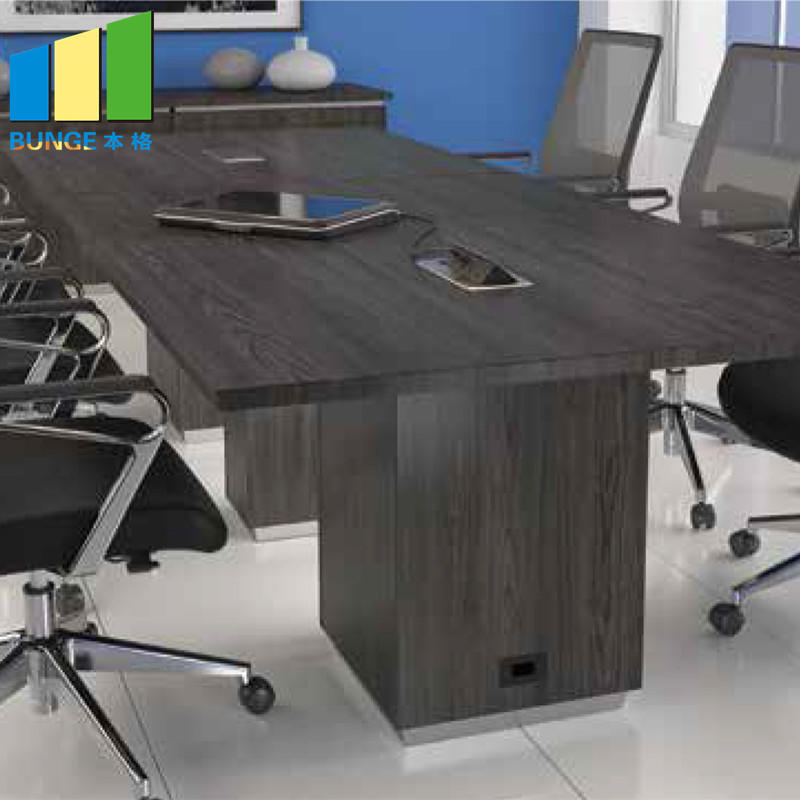 product-Modern Commercial Furniture MFC Melamine Wooden Office Conference Table for Boardroom-EBUNGE-1
