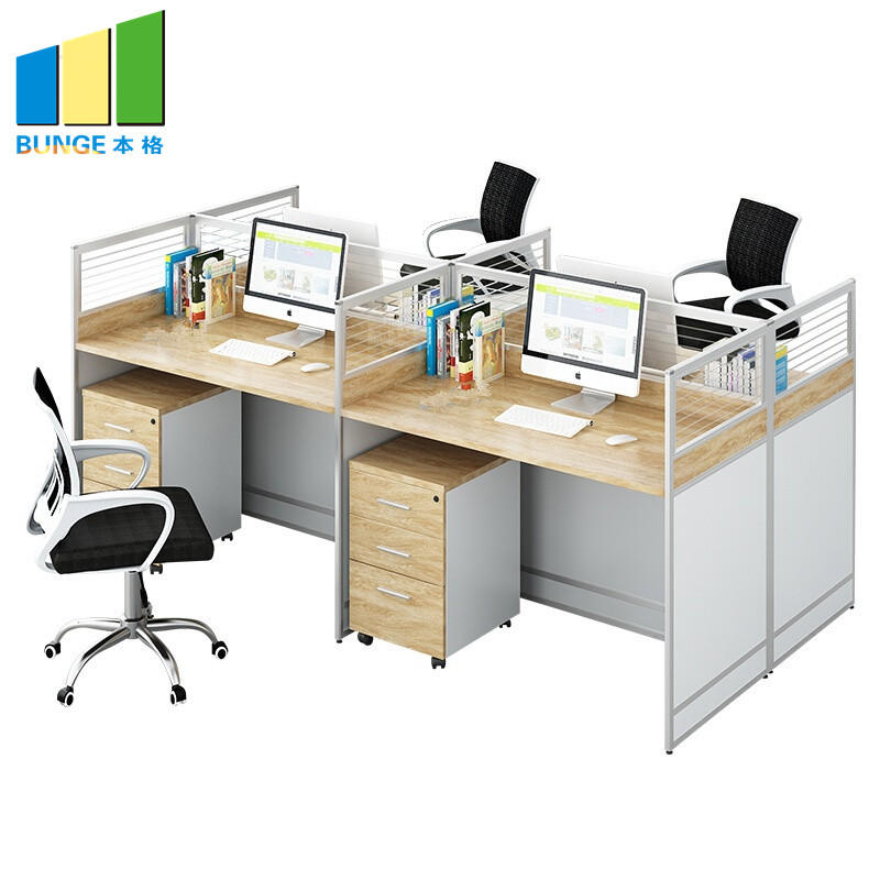 Commercial Funiture Modular Partition 4 Seater Conference Table Office Cubicles Workstation