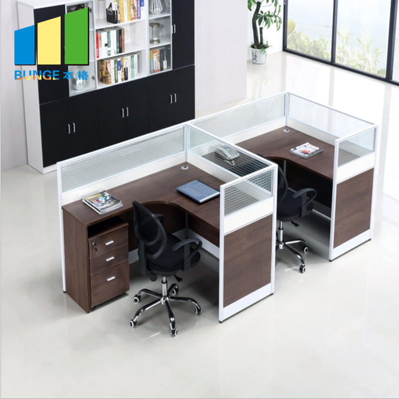 product-EBUNGE-Customized 4 Person Office Workstation Cluster Modular Office Cubicle Partitions for