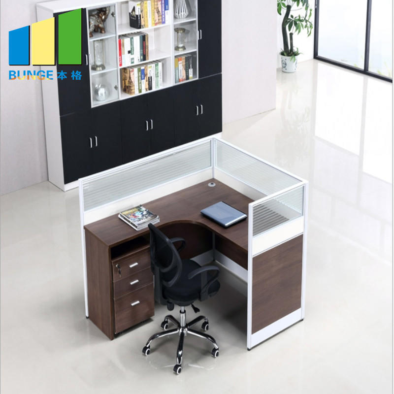 product-Customized 4 Person Office Workstation Cluster Modular Office Cubicle Partitions for Call Ce-1