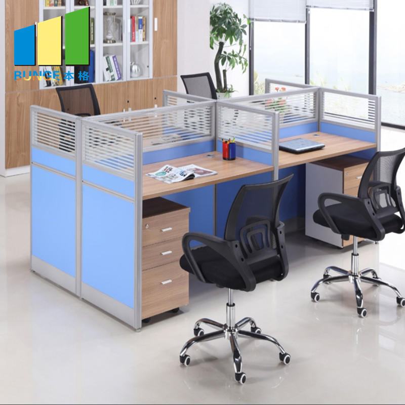 Meeting Room Modular Furniture 6 Person Office Glass Desks and Workstations