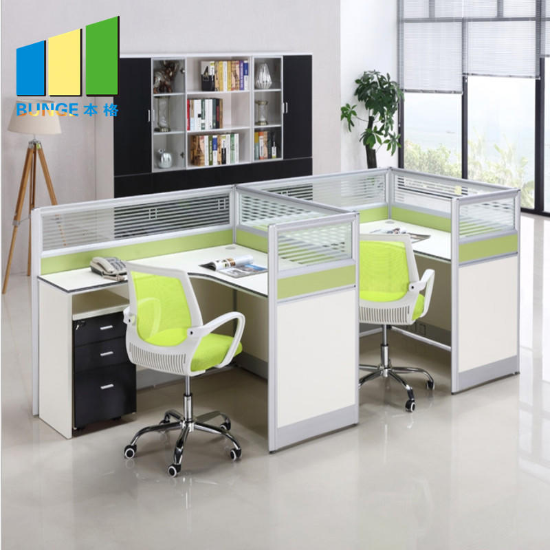 product-Modern Office Table Tops Office Wood Furniture 4 Person Workstations-EBUNGE-img-1
