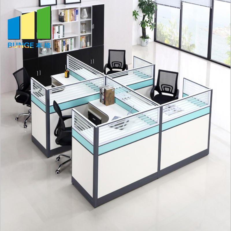 4 Person Seat Tables Modern Office Furniture Computer Work Stations
