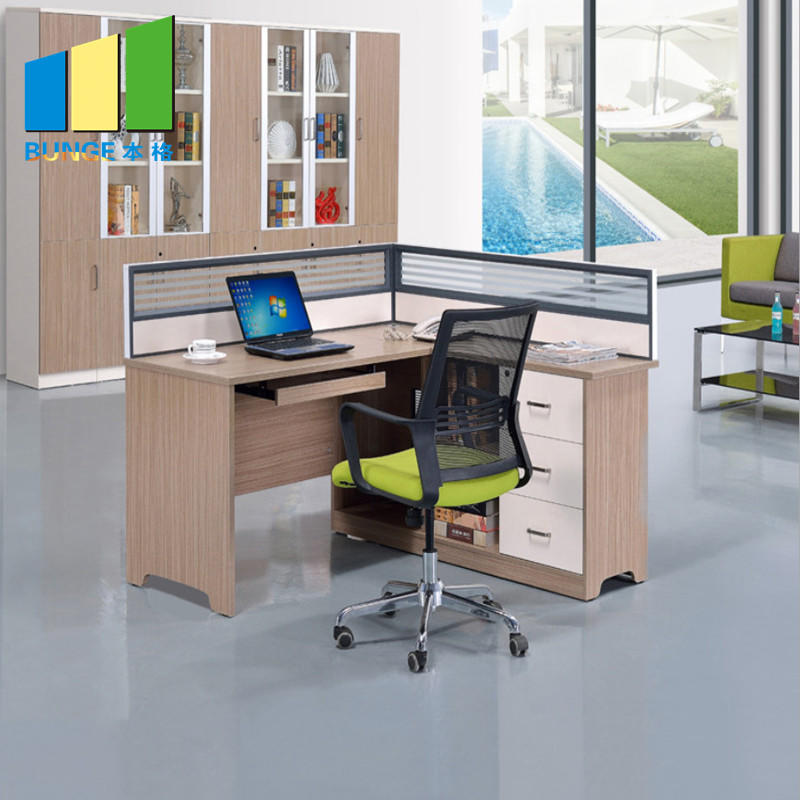 Contemporary Office Modular Furniture Cubicles 4 Seats Office Partition Workstations-movable wall, folding partition,operalbe wall-EBUNGE