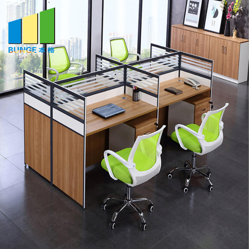 Modern Office Furniture Modern Office Furniture Modular Aluminum Glass Partitions 4 Person Office Cubicle Workstations