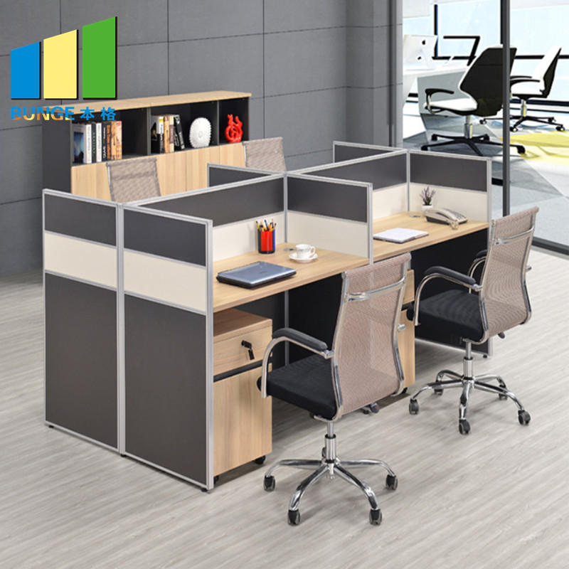 Modular Office Glass Cubicle Partitions Wooden Melamine Used Office Desks and Workstations for Sale