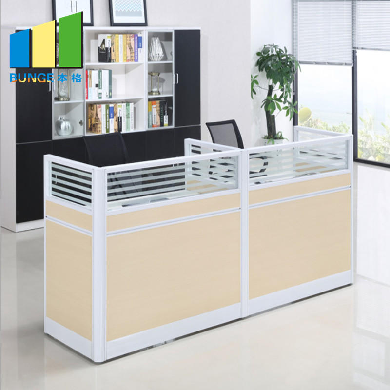 Modern Office Cubicles Furniture Staff Office Partition Desk 4 People Seats Workstations