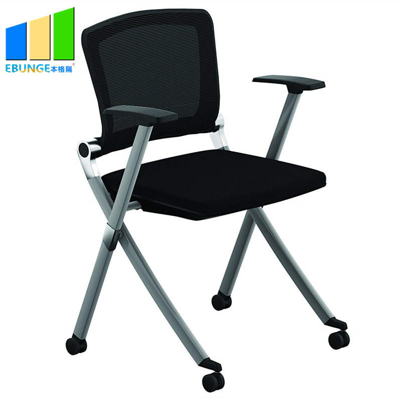 Modern Design Fabric Office Chair School Writetable Folding Chair for Training Room-movable wall- folding partition-operalbe wall-EBUNGE