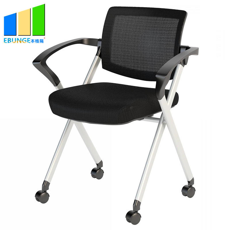 EBUNGE-Modern Design Fabric Office Chair School Writetable Folding Chair for Training Room