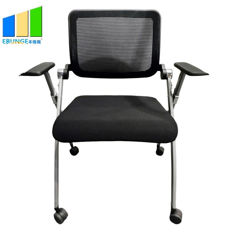 Modern Design Fabric Office Chair School Writetable Folding Chair for Training Room