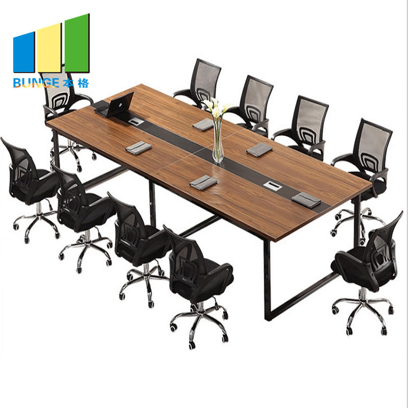 Modern Office Furniture Wooden Meeting Tables Office Conference Boardroom Desks Table Tops with Socket
