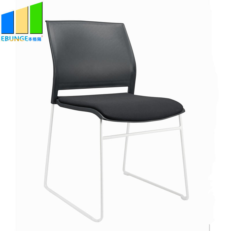EBUNGE-Folding Chairs Conference Room Table PP Frame Office Plastic Stackable Chair