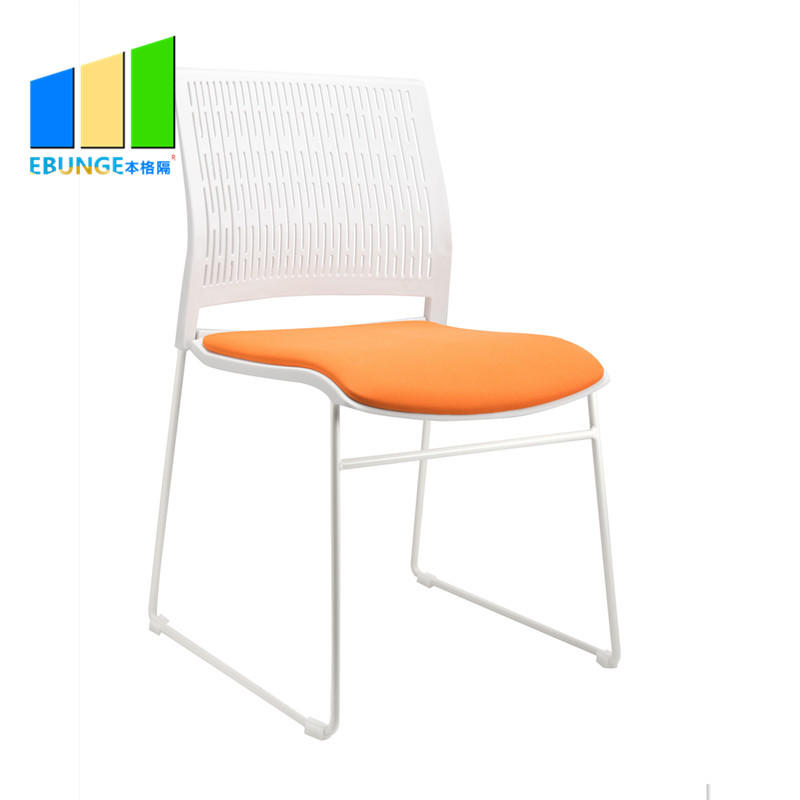 Folding Chairs Conference Room Table PP Frame Office Plastic Stackable Chair-EBUNGE