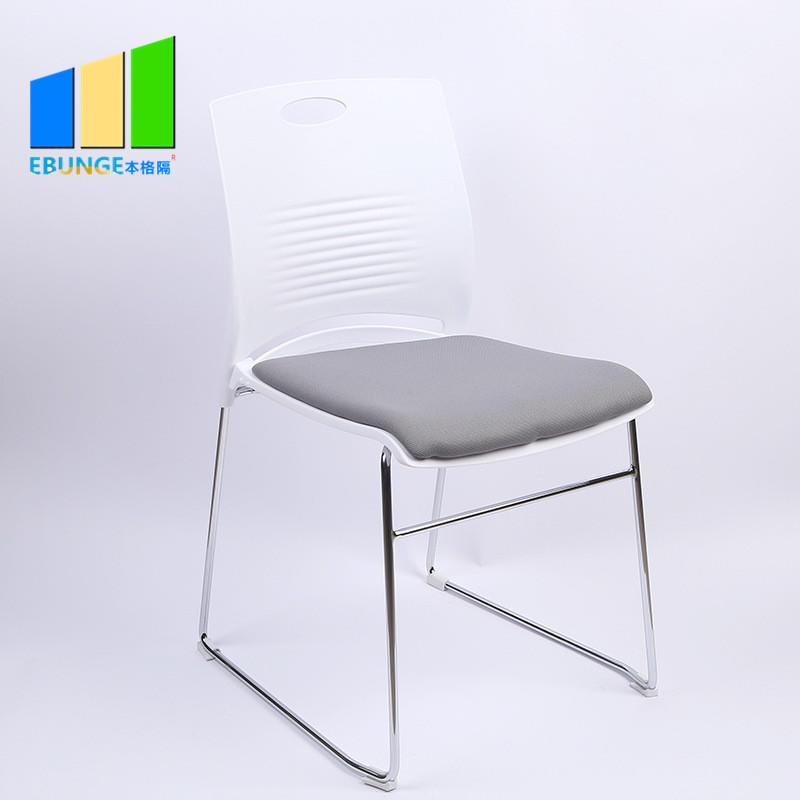 Folding Chairs Conference Room Table PP Frame Office Plastic Stackable Chair