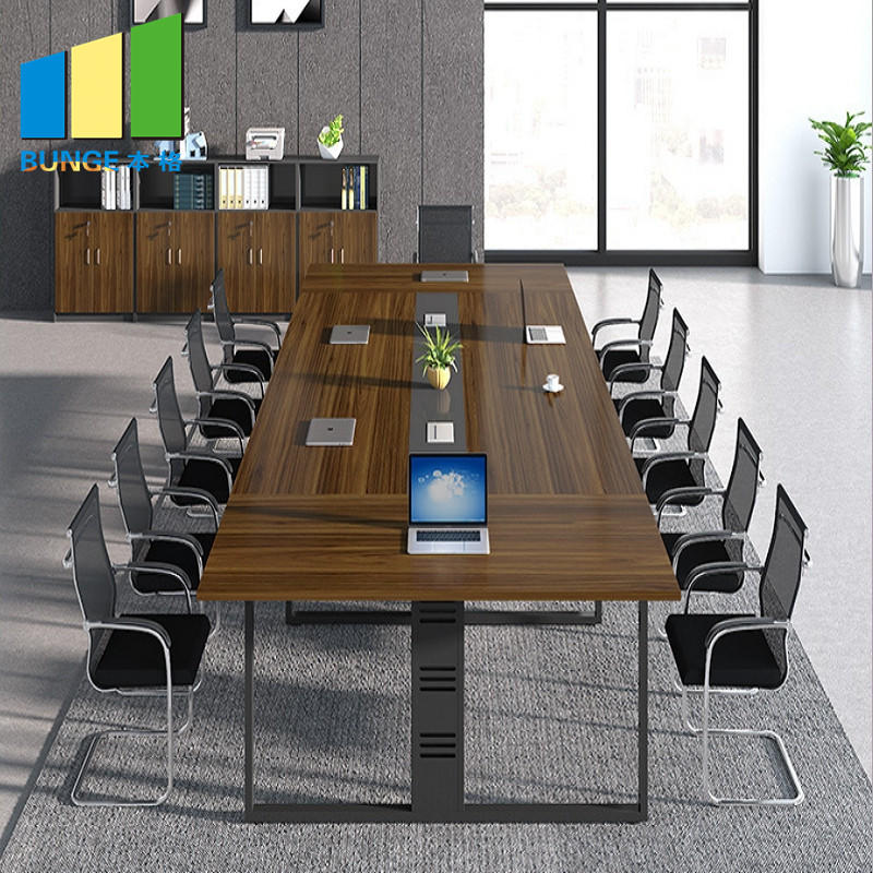 Commercial Office Furniture Meeting Room Negotiation Wooden Table Tops Melamine Conference Boardroom Tables