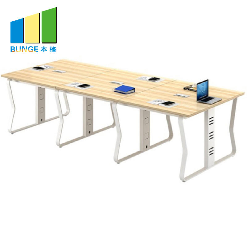 6-10 Seats Modern Simple Aluminum Panel Meeting Room Table Wooden Conference Tables for Office-EBUNGE