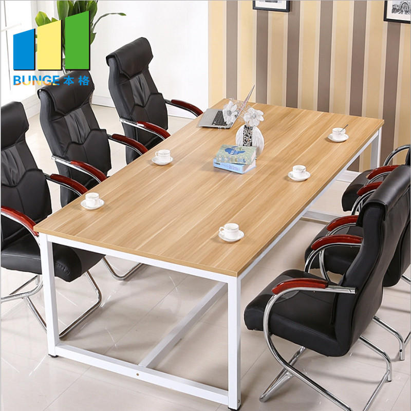 Meeting Room Furniture Steel Structure Office Executive Wooden Melamine Conference Tables and Chairs