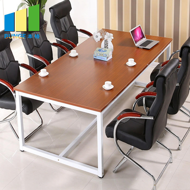 product-EBUNGE-Meeting Room Furniture Steel Structure Office Executive Wooden Melamine Conference Ta