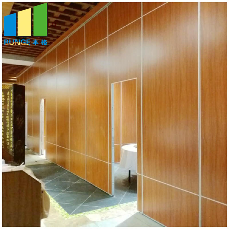 Multi Color Hotel Acoustic Movable Sound Proof Operable Walls / Restaurant Partition Wall-EBUNGE