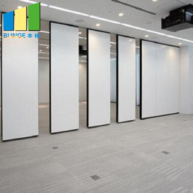 Soundproof Sliding Aluminum Frame Acoustic Movable Partition Walls for Meeting Room