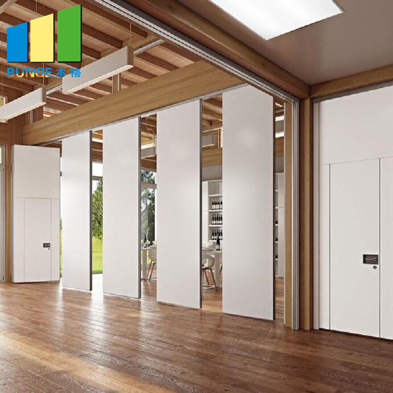 EBUNGE-Soundproof Sliding Aluminum Frame Acoustic Movable Partition Walls for Meeting Room