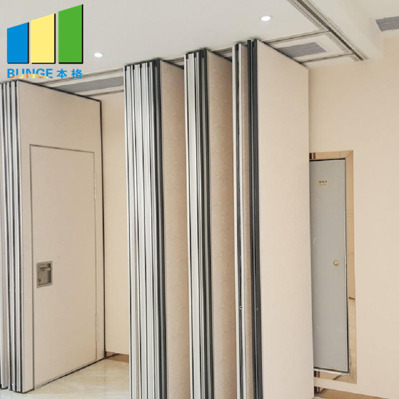 Soundproof Sliding Aluminum Frame Acoustic Movable Partition Walls for Meeting Room-EBUNGE
