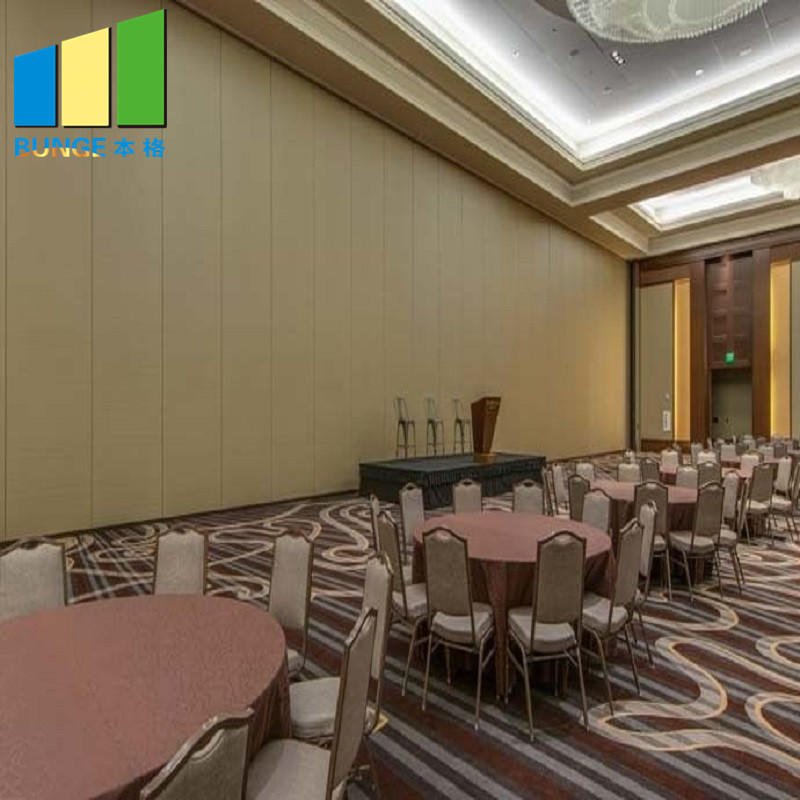 Hotel Restaurant Sliding Acoustic Partition Wall / Hanging Soundproof Movable Wall Partitions