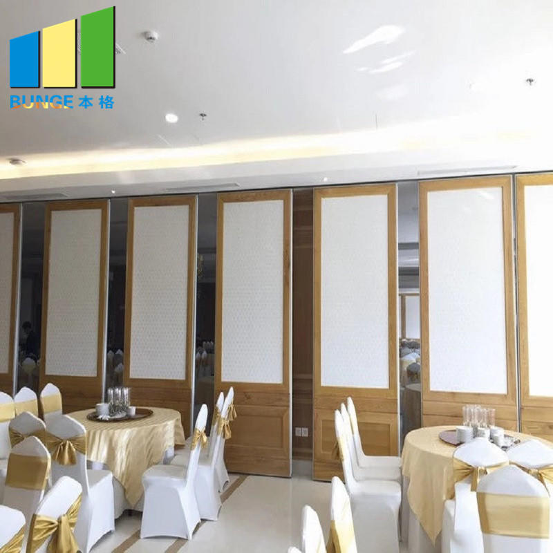 Aluminium Frame Banquet Sliding Folding Room Partitions Soundproof Movable Walls for Restaurants