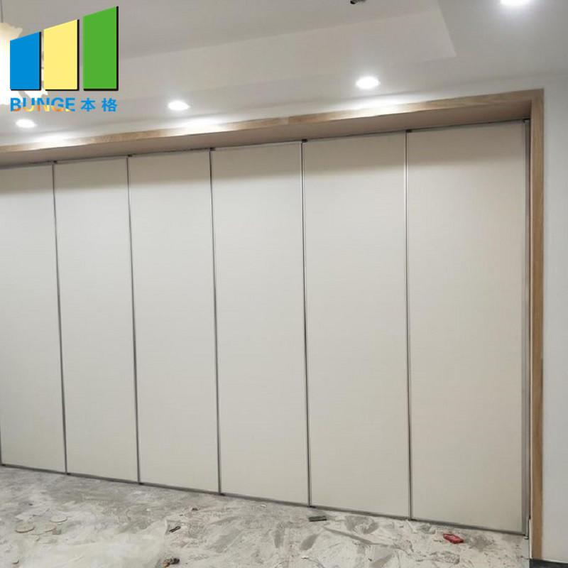 product-EBUNGE-MDF Melamine Soundproof Movable Walls Office Sliding Acoustic Partitions for Conferen