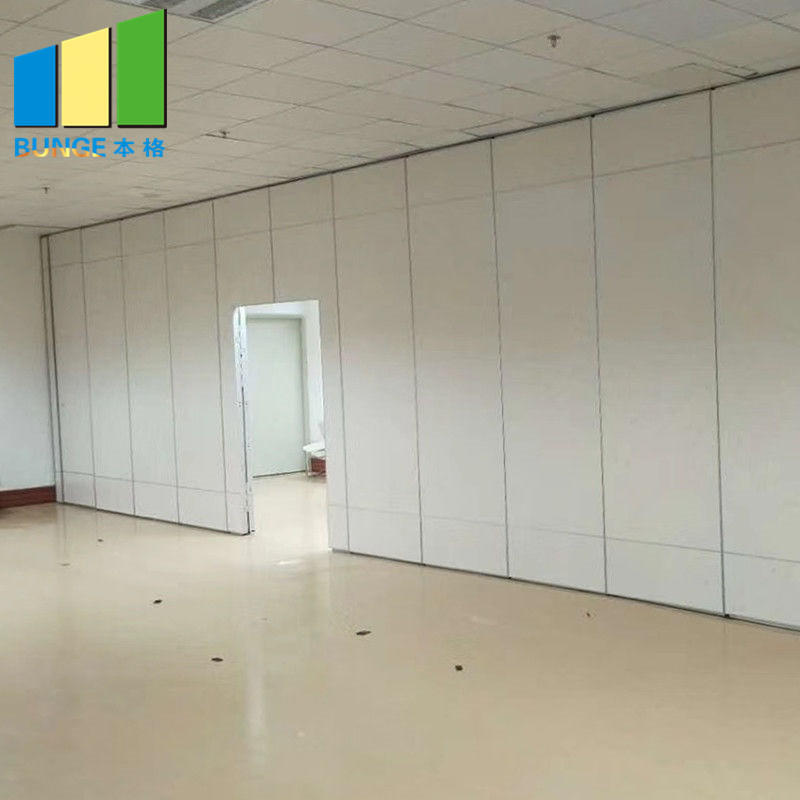 MDF Melamine Soundproof Movable Walls Office Sliding Acoustic Partitions for Conference Room