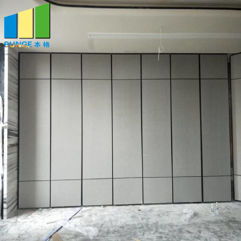 Office Acoustic Room Movable Partition Walls / Conference Hall Sliding Folding Partitions