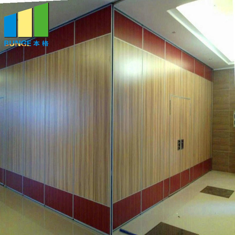 Banquet Hall Sliding Room Folding Partitions / Wooden Soundproof Acoustic Movable Walls