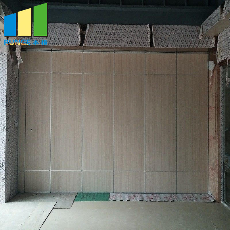 Aluminium Frame Sliding Folding Acoustic Banquet Hall Partitions Soundproof Movable Walls