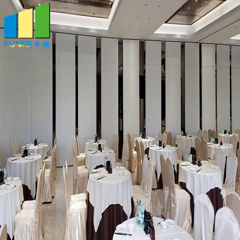 Meeting Room Soundproof Operable Walls Acoustic Folding Sliding Movable Partitions for Office-EBUNGE
