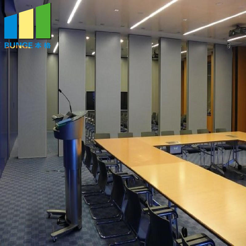 Hanging System Folding Movable Wall Panels Soundproof Banquet Hall Acoustic Sliding Partitions-movable wall- folding partition-operalbe wall-EBUNGE