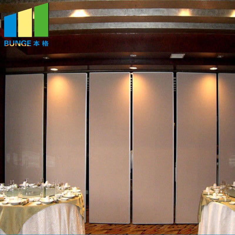 Hanging System Folding Movable Wall Panels Soundproof Banquet Hall Acoustic Sliding Partitions-EBUNGE
