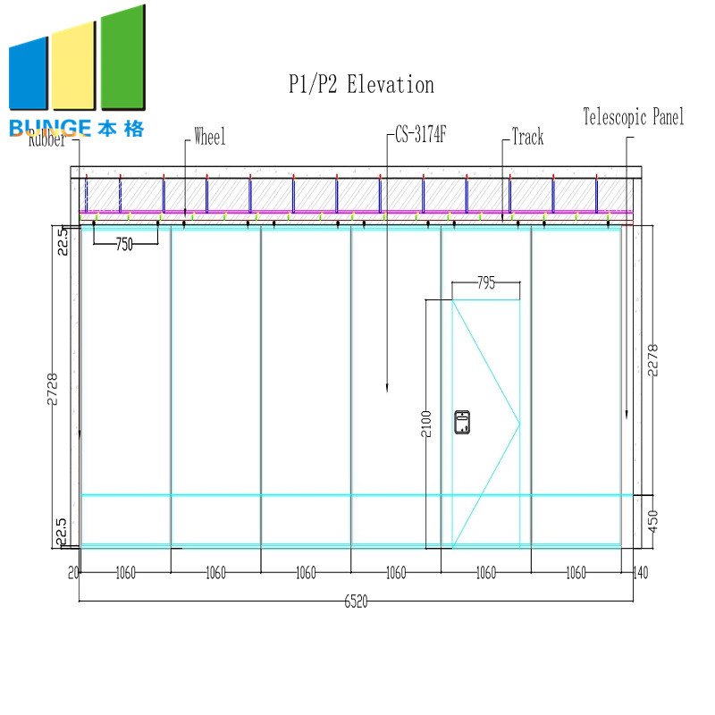 EBUNGE-Oem Movable Partition Manufacturer, Foldable Partition Doors-2