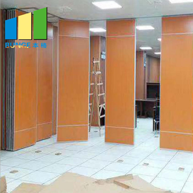 Melamine Conference Hall Movable Partition Walls Acoustic Sliding Sound Proof Fire Proof