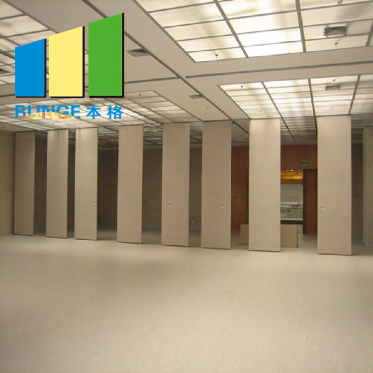 Soundproof Room Divider Sliding Folding Movable Partitions Wall For Restaurant Hospital Gym