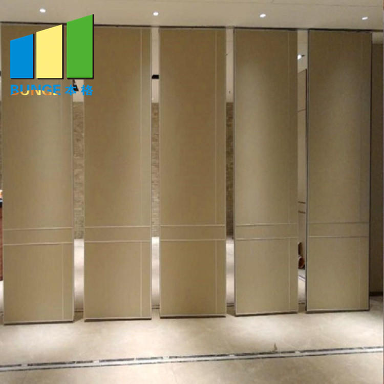 New Style Manual Control Sliding Folding Partition Walls Operable For Banqueting Hall
