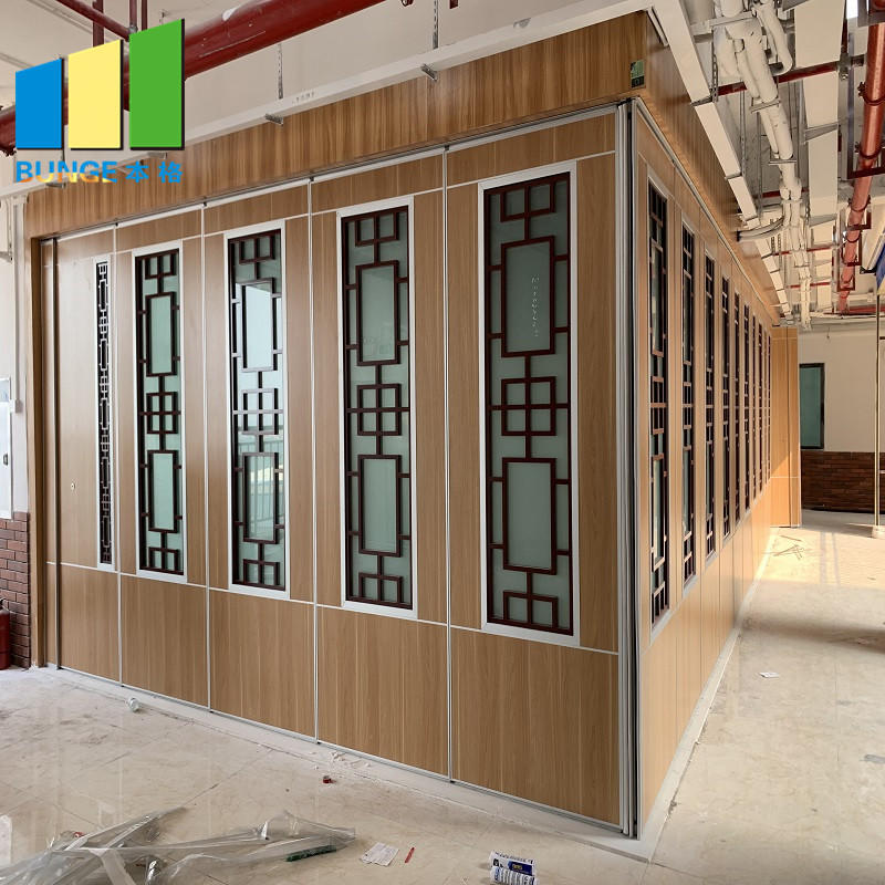 product-EBUNGE-Commercial Restaurant Folding Mobile Wall Partition Sliding Acoustic Movable Partitio