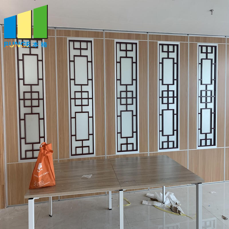 product-Commercial Restaurant Folding Mobile Wall Partition Sliding Acoustic Movable Partition Manuf-1