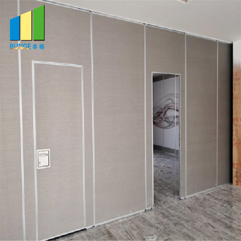 Banquet Hall Soundproof mdf Room Separation Wood Folding Partition Wall Myanmar-EBUNGE